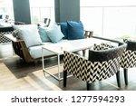 comfortable pillow on sofa...   Shutterstock . vector #1277594293