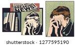 stock illustration. upset... | Shutterstock .eps vector #1277595190