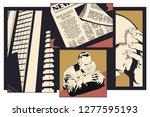 stock illustration. upset... | Shutterstock .eps vector #1277595193
