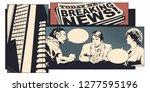 stock illustration. man and...   Shutterstock .eps vector #1277595196