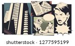 stock illustration. man and...   Shutterstock .eps vector #1277595199