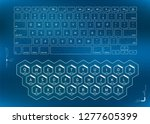 white outline keyboards ... | Shutterstock .eps vector #1277605399