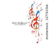 colorful music background.... | Shutterstock .eps vector #127761566
