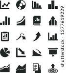 solid black vector icon set  ... | Shutterstock .eps vector #1277619229