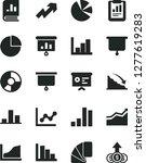 solid black vector icon set  ... | Shutterstock .eps vector #1277619283