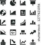 solid black vector icon set  ... | Shutterstock .eps vector #1277621056