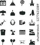 solid black vector icon set  ... | Shutterstock .eps vector #1277621089
