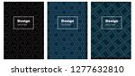 dark blue vector brochure for...