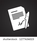 business documentations icon on ... | Shutterstock .eps vector #1277636023