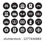 20 vector icon set   weapons ... | Shutterstock .eps vector #1277646883