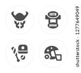 4 bison  baseball  fifth avenue ...   Shutterstock .eps vector #1277649049