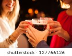 friends having a round of... | Shutterstock . vector #127766126