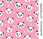 seamless pattern with panda.... | Shutterstock .eps vector #1277663983