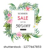 summer sale banner with exotic... | Shutterstock .eps vector #1277667853