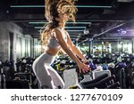 side view of slim sporty young... | Shutterstock . vector #1277670109