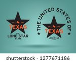texas star with map and... | Shutterstock .eps vector #1277671186
