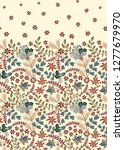 floral vintage seamless pattern.... | Shutterstock . vector #1277679970