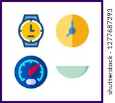 4 dial icon. vector... | Shutterstock .eps vector #1277687293