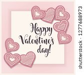 valentine's day card with pik... | Shutterstock .eps vector #1277688973