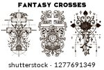 design set with fantasy crosses ... | Shutterstock .eps vector #1277691349
