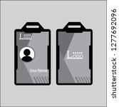 grey employee id card design...