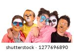 children's group with animal... | Shutterstock . vector #1277696890