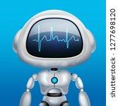 ai robot. chat robot. talking...   Shutterstock . vector #1277698120