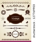 page decoration   Shutterstock . vector #127769903