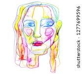 portrait a woman  in modern... | Shutterstock . vector #1277699596