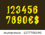 ghostly numbers with currency... | Shutterstock .eps vector #1277700190
