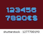 vibrant numbers with currency... | Shutterstock .eps vector #1277700193