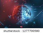 artificial intelligence  3d...   Shutterstock . vector #1277700580