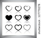 set of simple heart icons....   Shutterstock .eps vector #127770278