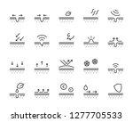 set of skincare line icons ... | Shutterstock .eps vector #1277705533