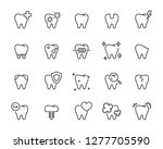 set of teeth icons  such as ... | Shutterstock .eps vector #1277705590