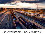 container freight train in... | Shutterstock . vector #1277708959