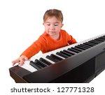 one small little girl learning... | Shutterstock . vector #127771328