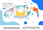 we are hiring and online... | Shutterstock .eps vector #1277714173