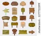 empty wooden boards in vector ... | Shutterstock .eps vector #1277722399