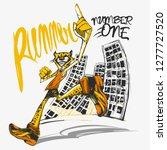 runner cheetah on the street   Shutterstock .eps vector #1277727520