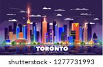toronto  canada  night city... | Shutterstock .eps vector #1277731993