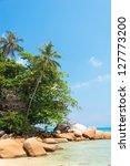 rocky bay blue seascape | Shutterstock . vector #127773200