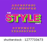 vector of modern bold font and... | Shutterstock .eps vector #1277733673