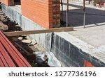 foundation waterproofing. house ... | Shutterstock . vector #1277736196
