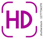 hd icon vector in focus. white... | Shutterstock .eps vector #1277736370