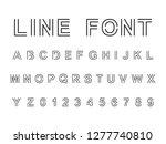 vector set line font.alphabet...   Shutterstock .eps vector #1277740810