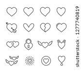 vector set of heart line icons. | Shutterstock .eps vector #1277740819