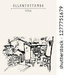 street life in ollantaytambo ...   Shutterstock .eps vector #1277751679