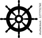 rudder icon. black silhouette...   Shutterstock .eps vector #1277751760