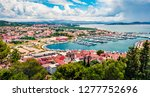 picturesque summer view of... | Shutterstock . vector #1277752696